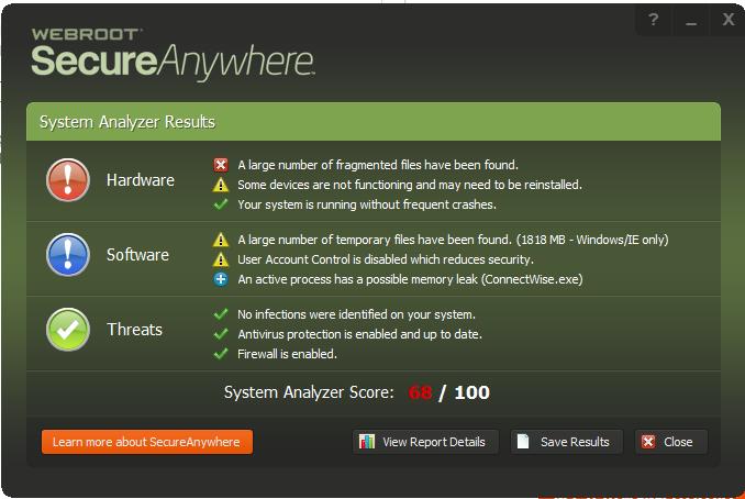 Webroot Analyzer