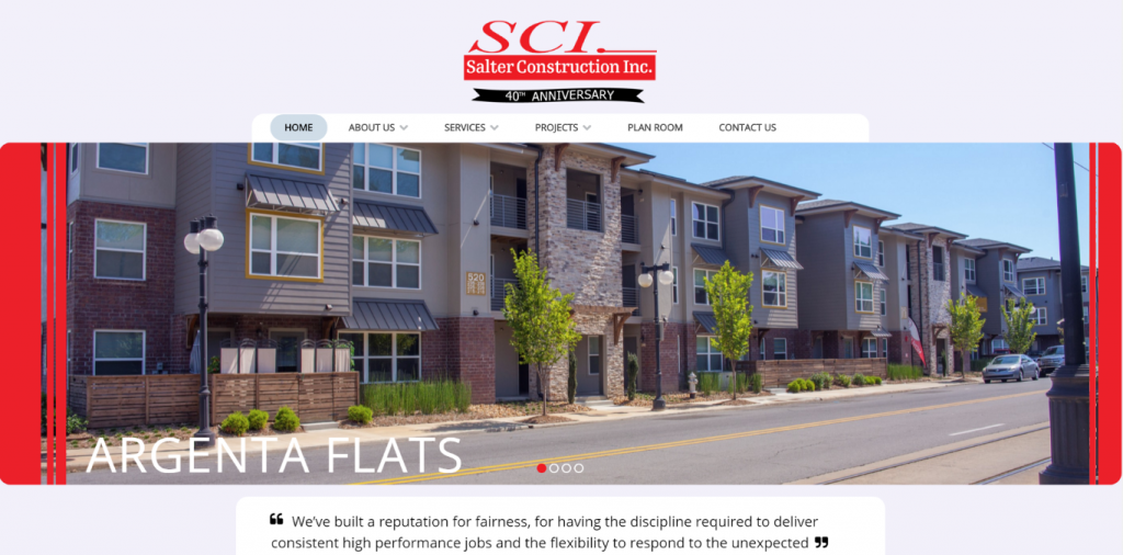 A website is a work of Art- Salter Construction - 640Square